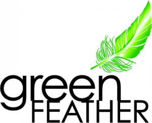 Green Feather - new long feather-BLACK TYPE